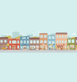 small city shops and building sellers and venders vector image vector image