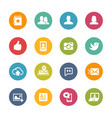 social icons - fresh colors series vector image vector image