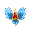 symbol of trophy emblem with wings vector image vector image