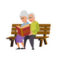 their hands white nice couple old people vector image