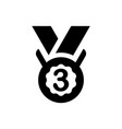 third medal icon vector image vector image