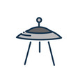 ufo spaceship astronomy and space vector image vector image