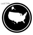 white map of the united states on vector image vector image