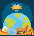 world food day healthy lifestyle meal planet vector image vector image