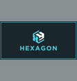xy hexagon logo design inspiration vector image vector image