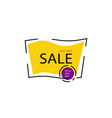 yellow sale banner template design shop now vector image vector image
