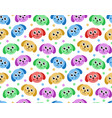 cute puppy seamless pattern dog repetitive vector image
