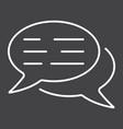 speech bubbles line icon seo and development vector image