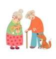 Cute darling grandmother and grandfather granny vector image