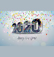 2020 happy new year with 3d number vector image vector image