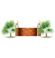 A barricade made of bricks vector image