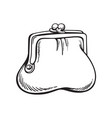 a purse full of money vector image