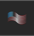 abstract america waving flag patriotic logo of vector image
