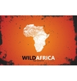 Africa logo Wild africa design Africa poster vector image