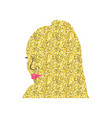 african gold black woman vector image vector image