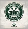 alternative eco friendly time stamp vector image