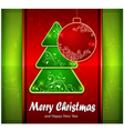 Balls and fir trees on red and green color vector image vector image