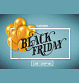 banner for black friday sale with handdrawn vector image