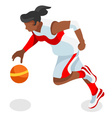 Basketball 2016 Sports Isometric 3D vector image vector image