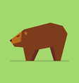 Bear in flat style vector image vector image