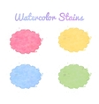 Beautiful watercolor design elements vector image