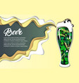 beer poster design template paper cut vector image vector image