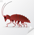 Brown cartoon cockroach in vector image