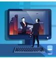 businessmen handclasp in vector image