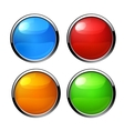 Buttons elements round vector image vector image