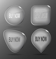 Buy now Glass buttons vector image