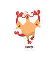 cancer zodiac sign funny chick character vector image vector image
