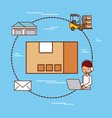 cardboard box delivery logistic mail warehouse and vector image vector image
