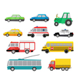 cars set vector image vector image