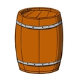 Cartoon barrel on white background vector image vector image