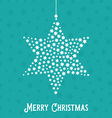 christmas star background 1609 vector image vector image