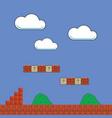 classic retro arcade design with red brick pixel vector image vector image