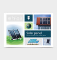 colorful save energy composition vector image vector image