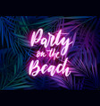 dark blue and violet tropical party design vector image vector image