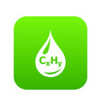 drop oil icon green vector image
