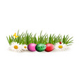 easter clip art for greeting card with colored vector image