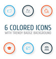 education icons set collection of library vector image vector image
