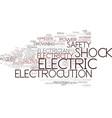 electrocution word cloud concept vector image vector image