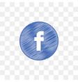 facebook social media icon design template vector image vector image