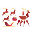 Flat christmas reindeer creation set kit