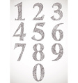 Floral numbers set typeface vector image