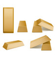 gold bars golden bricks precious metal vector image