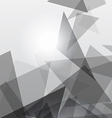 Grey geometric transparency vector image