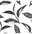 hand drawn seamless pattern with tea leafs vector image vector image