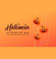 happy halloween calligraphy with pumpkins vector image vector image