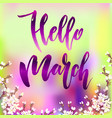 hello march quote vector image vector image